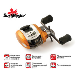Кат. мульт. Surf Master Silver Fish SF 20 5+1bb L кастинг