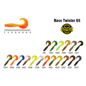 Твистер Akara Eatable Bass Twister 65 K002